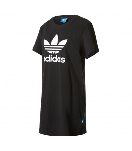 Vestido Adidas Trefoil Tee Dress AY8123 para mujer en color negro. Encuentra todas las novedades de Adidas en Chema Sport. Envios en 24/48 horas