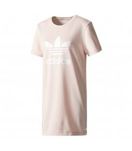 Vestido Adidas Trefoil Tee Dress BP9420 rosa para mujer. Otros modelos de Adidas Superstar en Chema Sport.