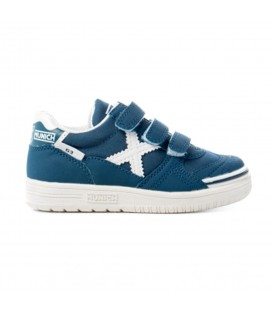 Comprar zapatillas de fútbol sala Munich G3 Kids VCO 1515676 de color azul marino para niños. Otros modelos de fútbol sala para niños en Chema Sport.