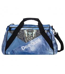 Comprar bolsa de gimnasio Desigual Luxury jeans 71X5SA7-6050 de color azul. Otras bolsas de entrenamiento en Chema Sport.