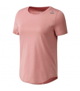 Camiseta Reebok Elements Tee BQ5981 para mujer en color rosa. Más camisetas de fitness en Chema Sport. Entra y descubre todo nuestro catálogo.