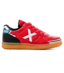 Zapatillas de fútbol sala para niños Munich G3 Kids profit 729 de color rojo con cierre de cordones. Otros modelos de fútbol sala en chemasport.es