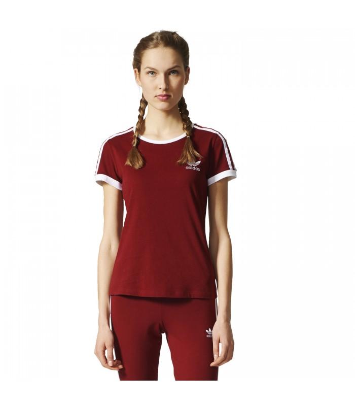camiseta adidas granate mujer
