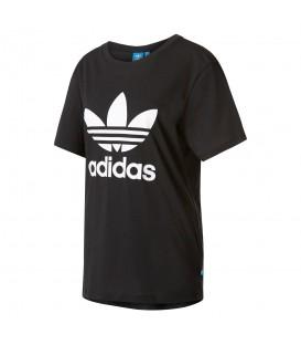 Camiseta Adidas Boyfriend Trefoil Tee AJ8351 para mujer en color negro. Camisetas Adidas para mujer en Chema Sport. Envíos a península en 24/48 horas
