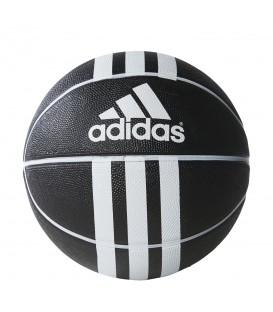 Balón de baloncesto Adidas 279008 3S Rubber X de color negro para pistas interiores y exteriores. Compra tu balón de basket al mejor precio.