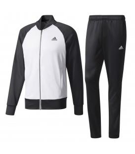 Chándal para hombre Adidas Pes cosy BQ6669 de color blanco y negro con cierre de cremallera. Chándales bien de precio para hombre en Chema Sport.