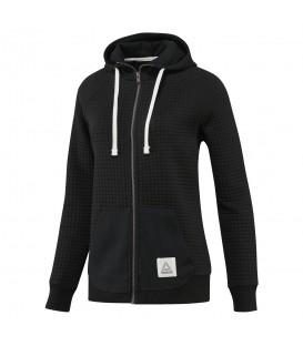 Chaqueta Reebok El Quilter Fullzip CD9353 para mujer. Otras chaquetas con capucha para mujer al mejor precio en Chema Sport, tienda deportes online.