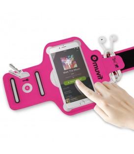 Brazalete deportivo de color rosa Muvit Universal Fino 4-4.7. Otros modelos de brazaletes de running en chemasport.es