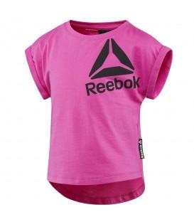Camiseta Reebok BR7234 Girls Essentials de color rosa para niña. Otras camisetas de deporte para niños en chemasport.es