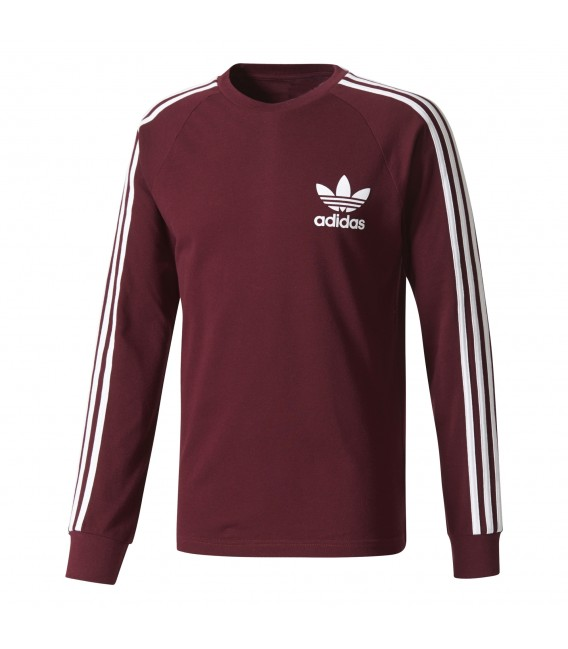 camiseta adidas original granate