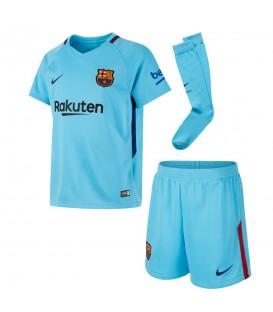Compra ahora la segunda equipación oficial del FC Barcelona para la temporada 2017/2018. Con este kit infantil los pequeños de la casa sentirán los colores.