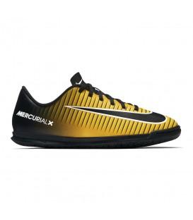 Zapatillas de fútbol Sala Nike Jr Mercurial Vortex III IC 831953 801 de color negro y naranja. Otros modelos de fútbol sala en chemasport.es