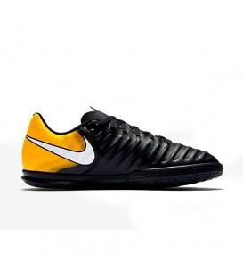 Zapatillas de fútbol sala Nike Tiempo X Rio IV IC Junior 897735-008 negro naranja