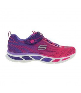 Zapatillas Skechers Litebeams 10667N HPPR de color rosa y violeta para niños. Deportivas con luces para niños al mejor precio en chemasport.es