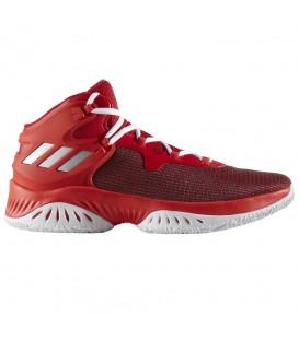 Zapatillas de baloncesto para hombre Adidas Explosive Bounce BY3777 de color rojo. Otros modelos de basket en chemasport.es