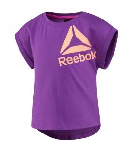 Camiseta Reebok Girls Essential BR7201 para niños en color violeta, entra en chemasport.es y descubre nuestro amplio catálogo