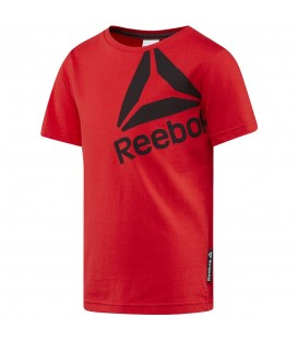Camiseta Reebok Boys Essential BS1408 para niños en color rojo, disponible en más colores en chemasport.es