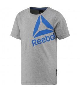 Camiseta Reebok Boys Essential BS1421 para niños en color gris. Camisetas niños Reebok en chemasport.es al mejor precio