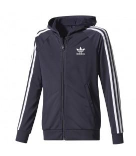 Chaqueta con capucha para niños Adidas Junior PHoodie de color azul marino. Cómprala ahora al mejor precio y recíbela en 48 horas. ¡Envíos a toda la Península!