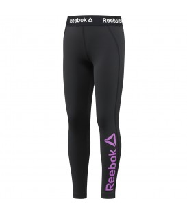 MALLAS REEBOK GIRLS ESSENTIAL POLYESTER BIG LOGO LEGGING