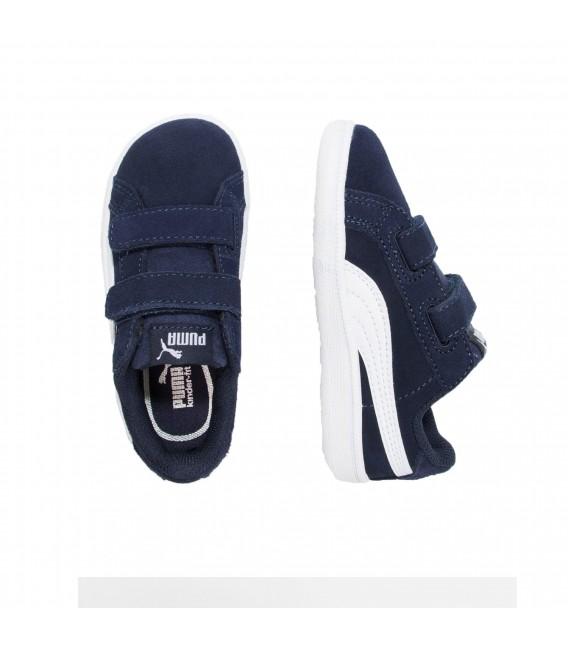 076ceaf3982 Zapatillas Puma Smash Fun SD V INF para niños en color azul marino