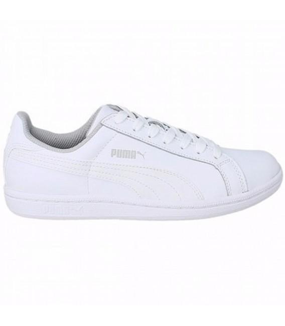 Zapatillas Puma Smash Fun L Jr en color blanco y gris f806bb2ee
