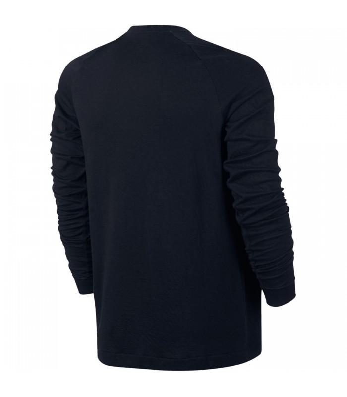0272d5411d1 Camiseta manga larga hombre Nike Sportswear Modern Crew de color negro