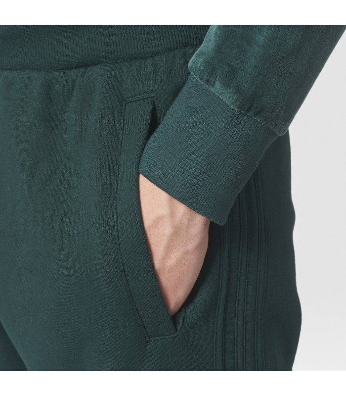 Pantalón largo para hombre Adidas 3Striped FT Sweatpant de color verde 79244f4374f0