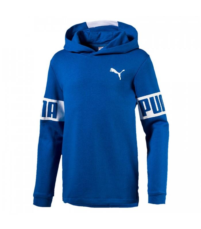 c73c02a1a Sudadera con capucha Puma Rebel para niño de color azul