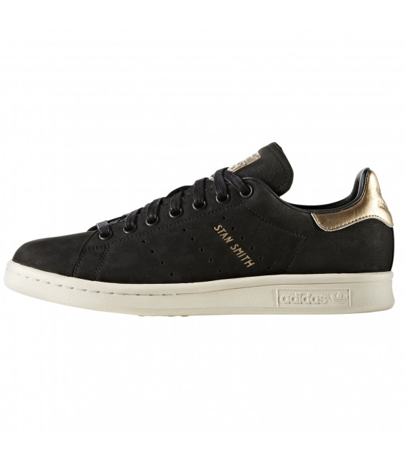 online retailer c073c 26b2c adidas ORIGINALS. Rebaja. ZAPATILLAS ADIDAS STAN SMITH W BY9919 NEGRO  DORADO MUJER. ZAPATILLAS ADIDAS STAN SMITH ...