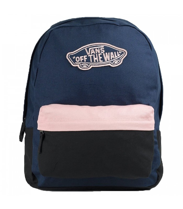 aliexpress exuberante en diseño Tienda online Mochila Vans Realm Backpack en color azul marino, rosa y negro