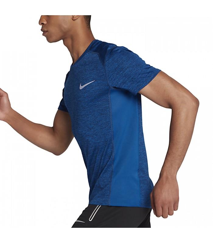 mitología Centímetro Hueso  Camiseta de running Nike Cool Miler para hombre de color azul.