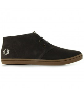 ZAPATOS FRED PERRY BYRON MID SUEDE B7400325 MARRON