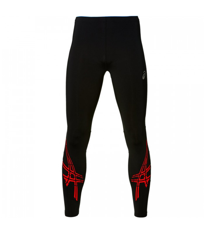 39fc70ea0ecb8 Mallas Asics Stripe Tight de running para hombre color negro naranja
