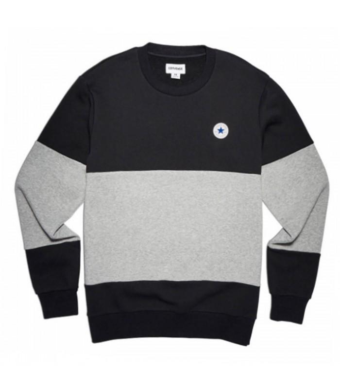 ajuste clásico 86a18 966dc Sudadera Converse Core Colorblock Crew de color gris/blanco/negro