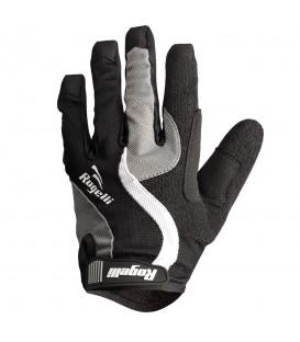 Guantes Rogelli Slant 060.601 en color negro y gris, para ciclismo y MTB en chemasport.es