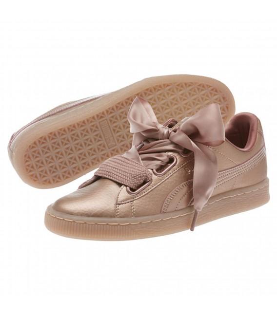 zapatillas puma basket heart mujer