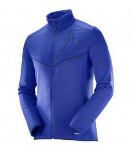 Compra ahora capa intermedia Salomon Discover FZ para hombre de color azul con abertura frontal y cierre de cremallera al mejor precio. Ref: L39726300