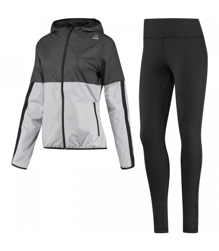 6e7712ee5 Chándal Reebok El TS Sport para mujer en color negro y gris