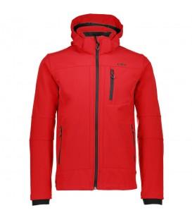 Chaqueta de abrigo ideal para la lluvia de la marca Campagnolo Man Zip Hood color rojo, con cierre de cremallera. Descubre la colección completa en nuestra web.