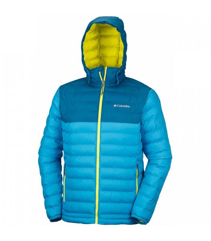 9b8ea12d3f34b Cazadora Columbia Powder Lite Hooded de color azul para hombre