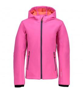 Compra ahora la cazadora CMP Girl Softfshell Jacket para niña de color rosa. Chema Sport es distribuidor oficial de Campagnolo en España.