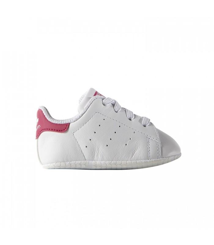 f846bd766 Patucos adidas Stan Smith para bebé de color blanco y rosa