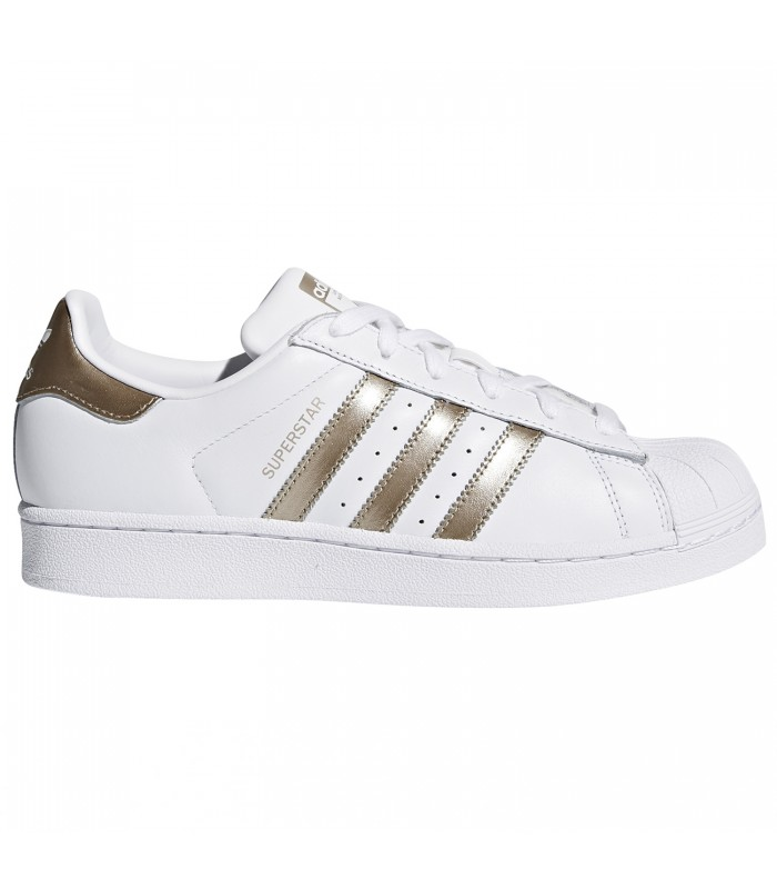 best service 8575a a3ad5 Zapatillas adidas Superstar Woman para mujer en color blanco y dorado