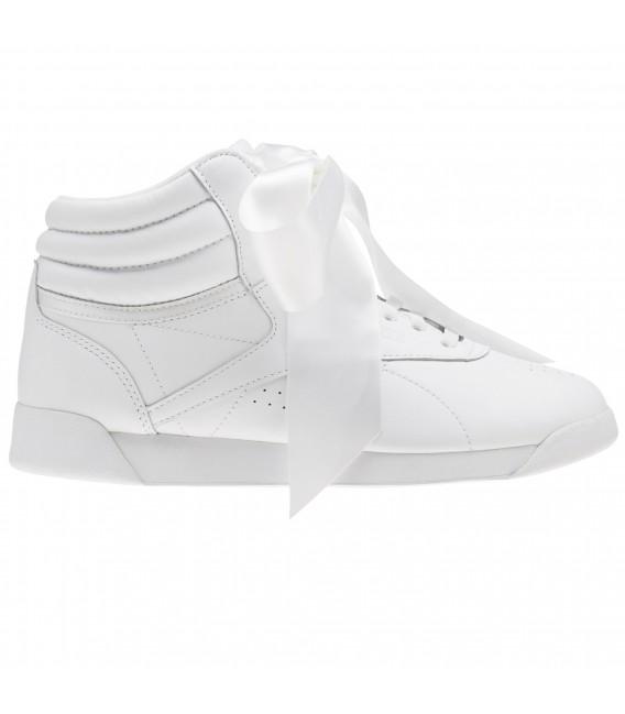 98f9a270b7045 Zapatillas Reebok F S HI Satin Bow para mujer en color blanco