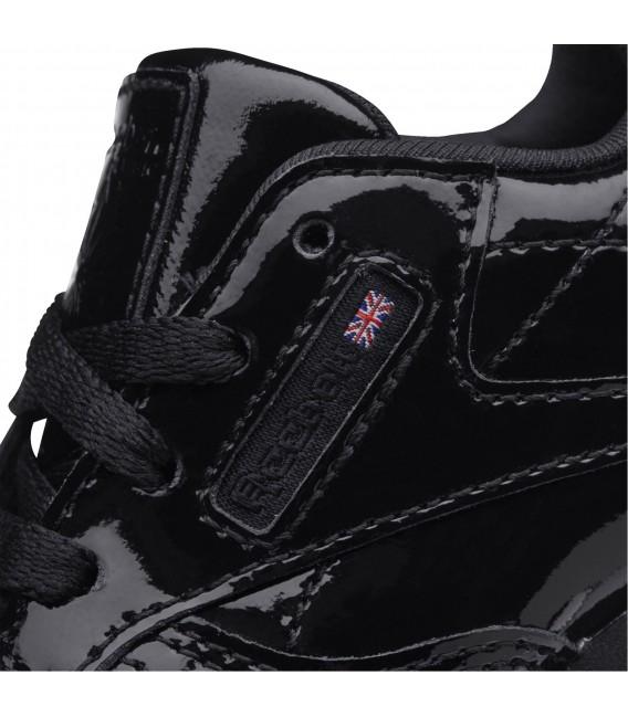 2644c239cea Zapatillas Reebok Classic Leather Patent para niños en color negro