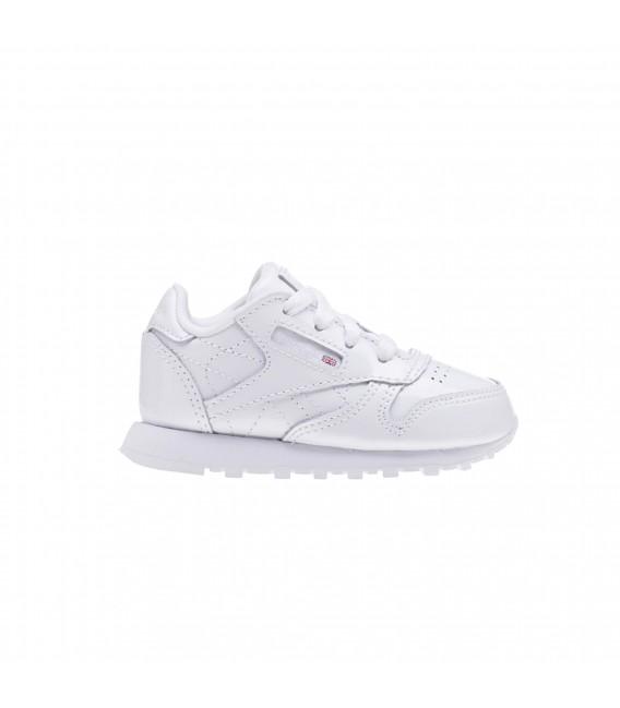 Leather Classic Para Blanco Zapatillas Color Niños Reebok En Fp7qAA8n