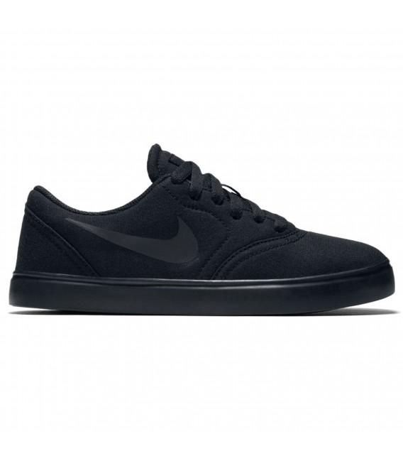 07f47d59de6eb Zapatillas Nike SB Check Canvas GS para niño en color negro