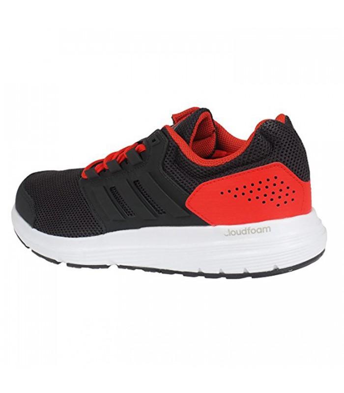 Zapatillas adidas Galaxy 4 M para hombre en color negro y rojo