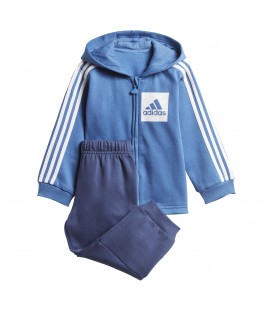 CHÁNDAL ADIDAS HOODED FLEECE 3 BANDAS